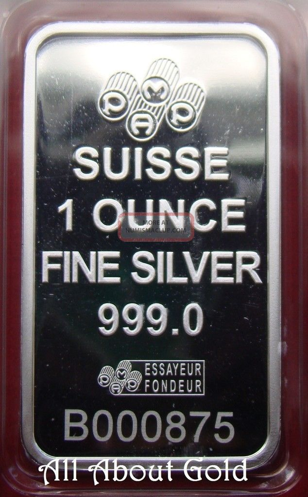 Solid Silver Bar 1 Oz Pamp Suisse Swiss Rose Rosa 999