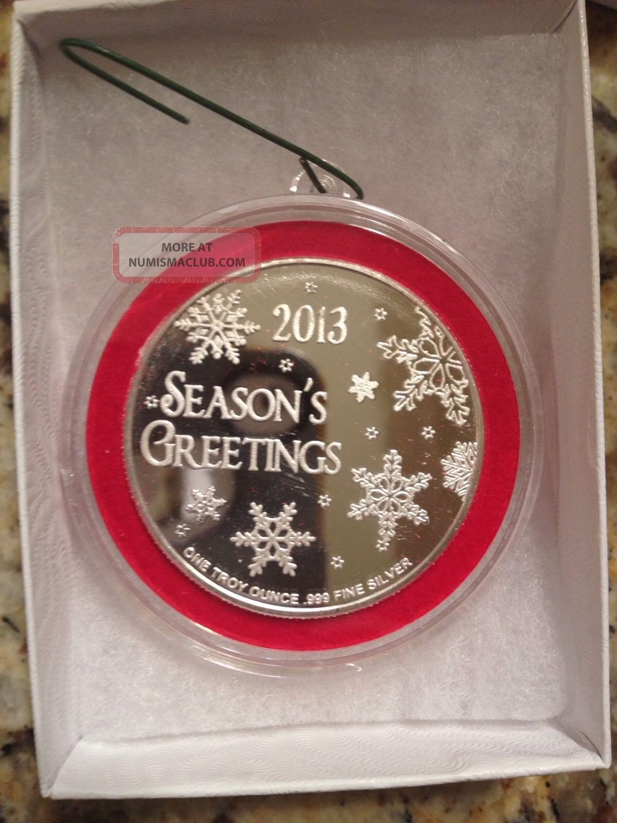 Christmas Ornament For Cleaance 999 Pure Silver With Giftbox