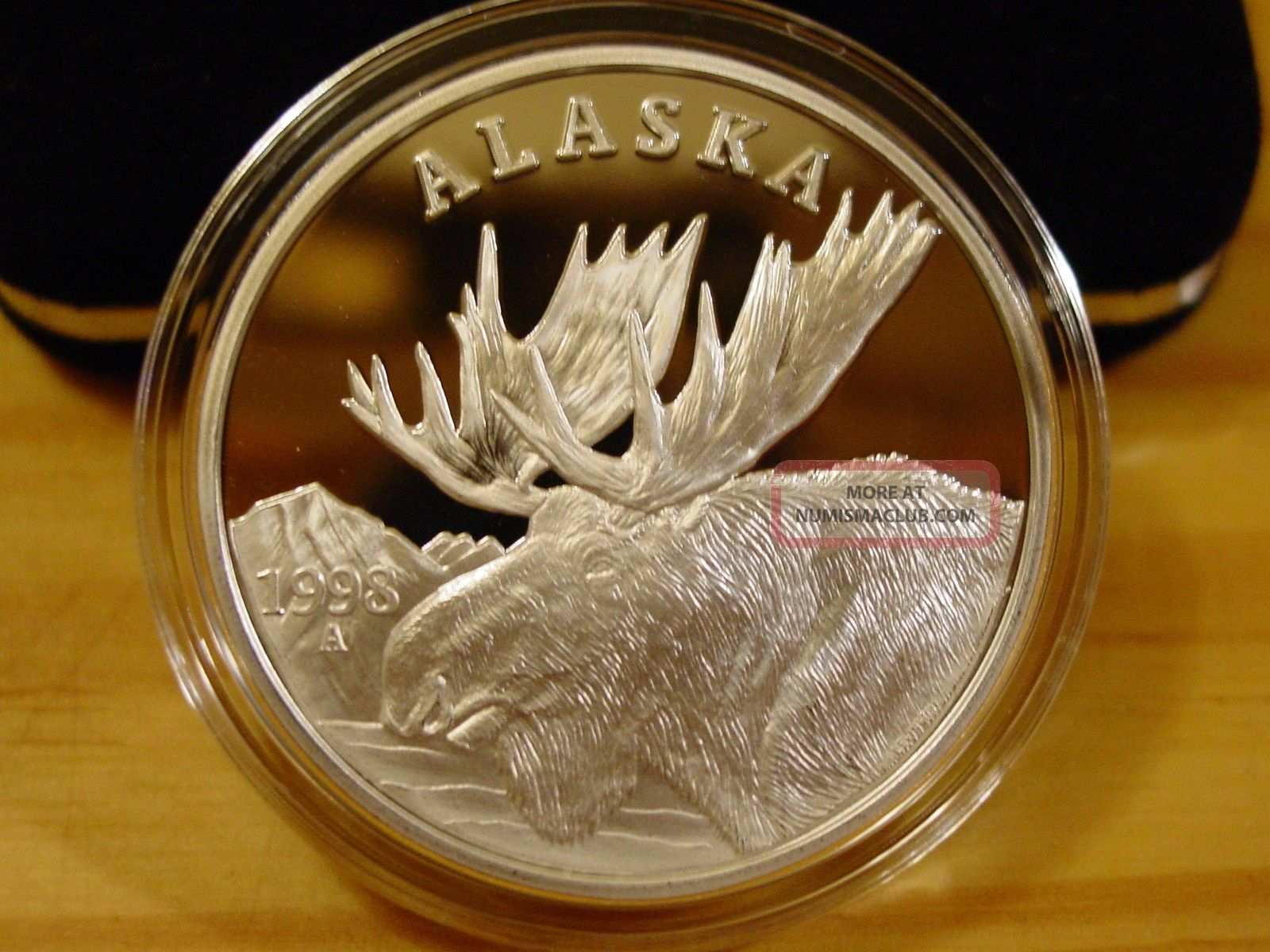 Alaska Official State 1998 Bull Moose 999 Silver Proof