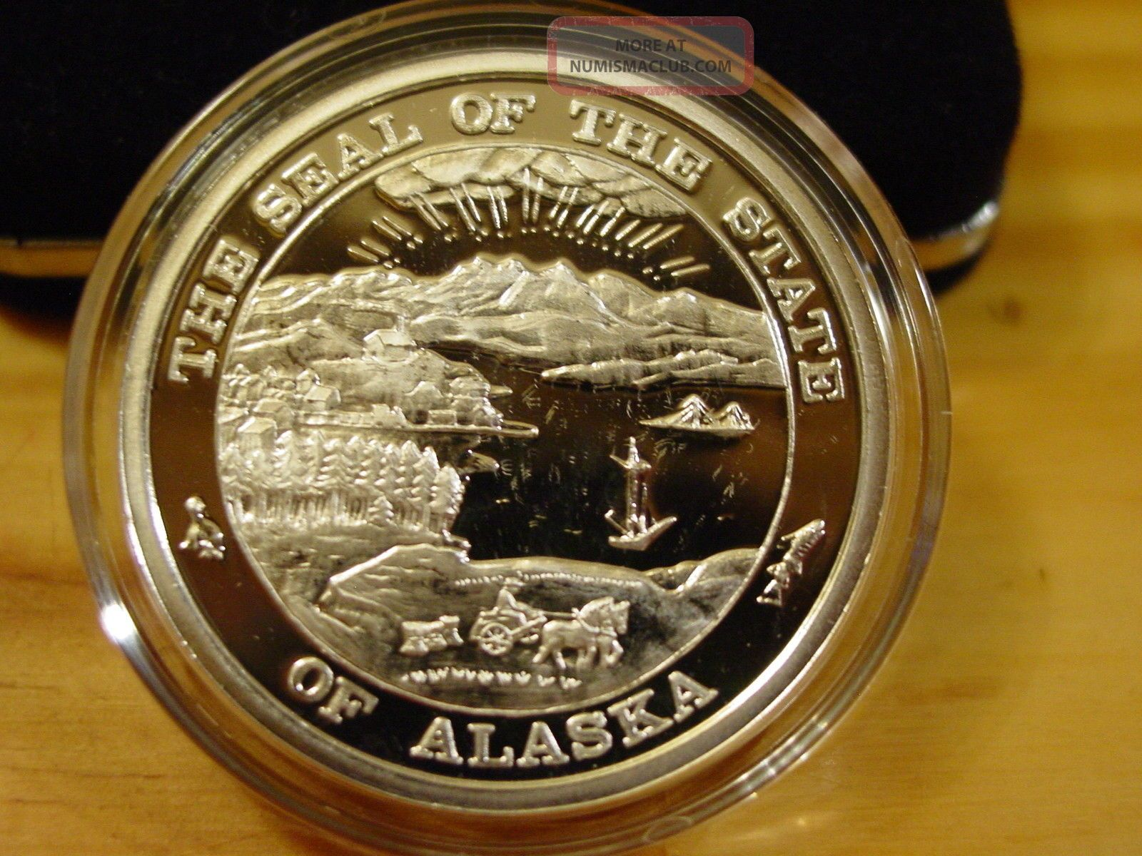 Alaska 1995 Goldpanner 999 Silver Proof 1 Troy Oz Medallion