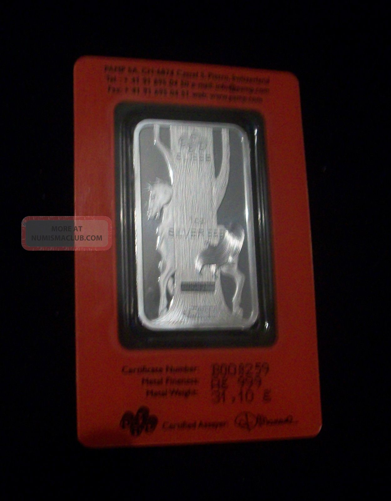 2014 Pamp Suisse 1 Oz Silver Bar Year Of The Horse From