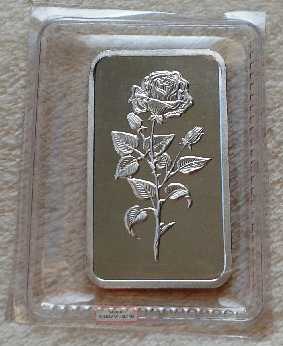 1 Oz Emirates Gold 999 0 Fine Silver Bar Quot Rose Of Dubai
