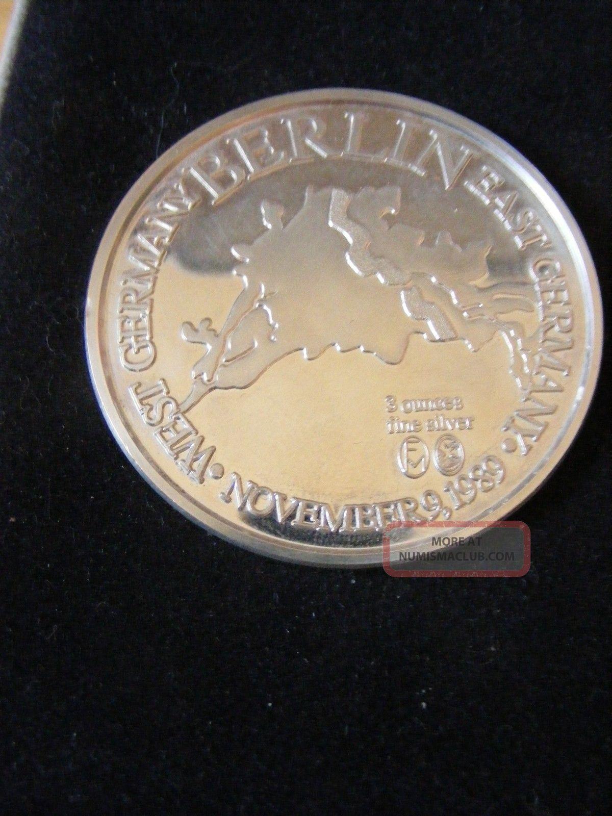 1989 The Berlin Wall Commemorative Medallion 999 Fine