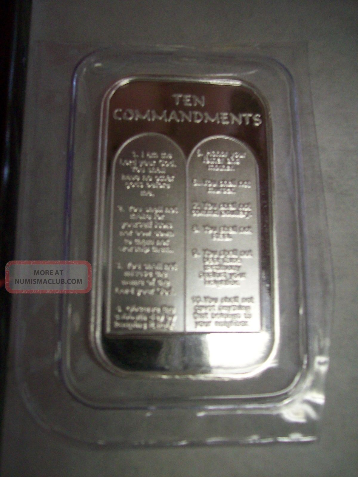 1 Oz Silver Ten 10 Commandments 999 Fine Silver Bullion