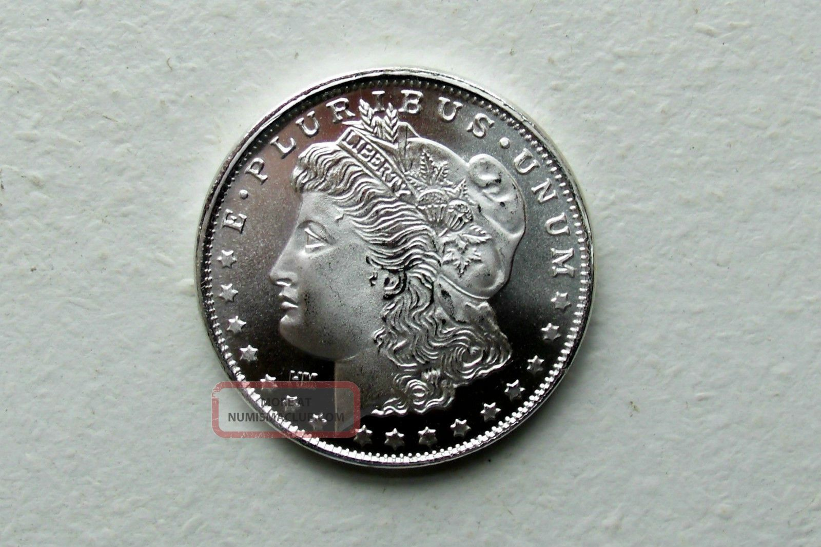 Morgan Dollar Design 1 Troy Oz 999 Fine Silver Round