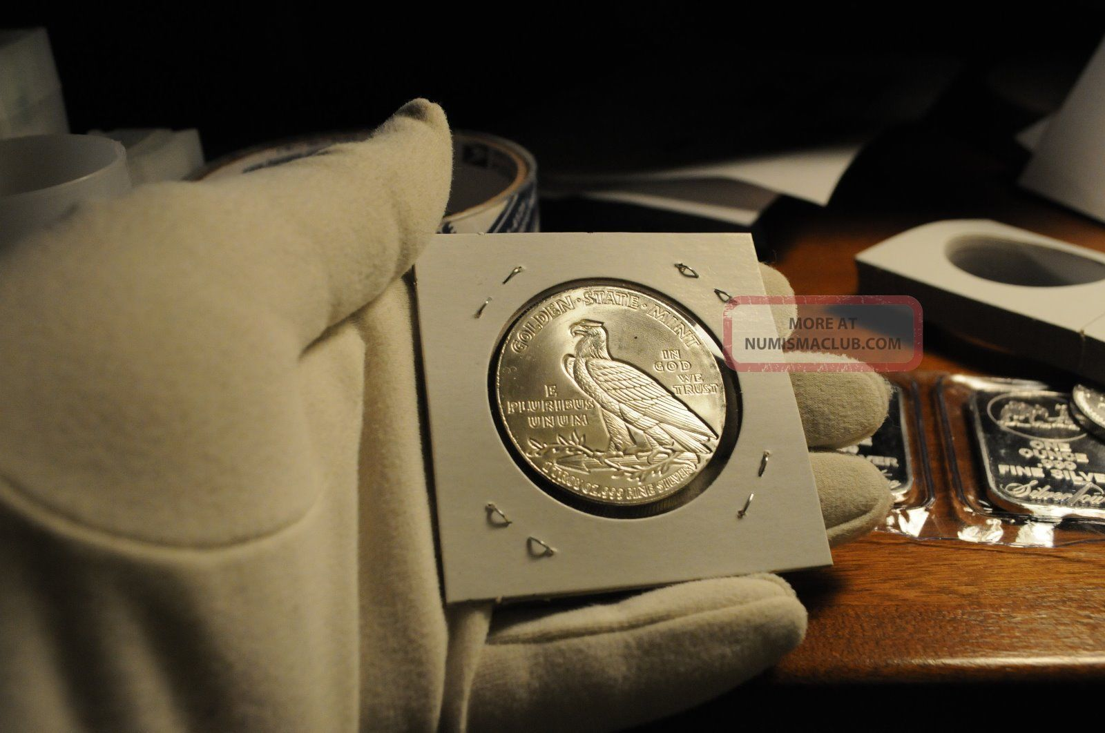 1 Troy Oz 1929 Incuse Indian Head Coin 999 Silver Bu