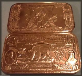 1000 X 1 Avdp Oz. .  999 Fine Copper Bullion Ingots 8 Styles+ Exclusive Capone F/s photo