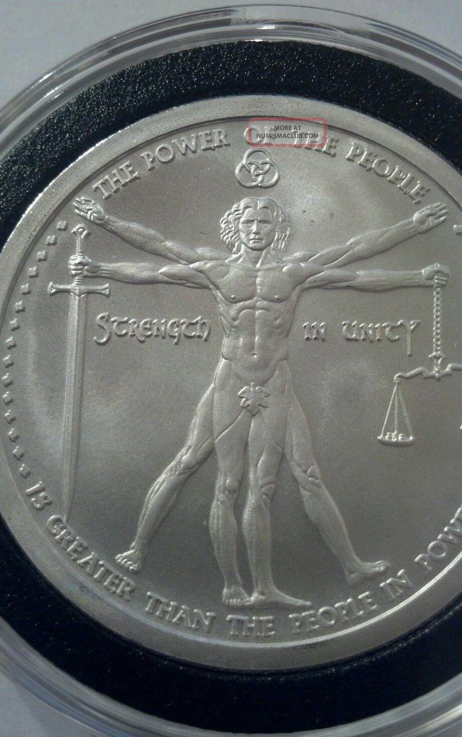 1 Oz 999 Silver Vitruvian Man Coin 2nd In Deluminati