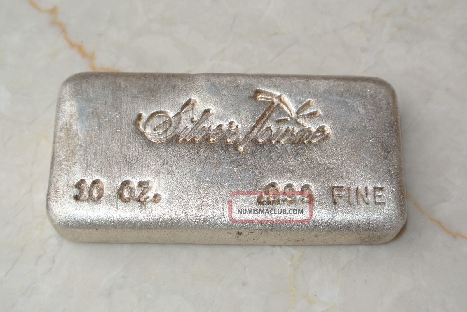 Vintage Hand Poured Silvertowne 10 Ounce 999 Silver