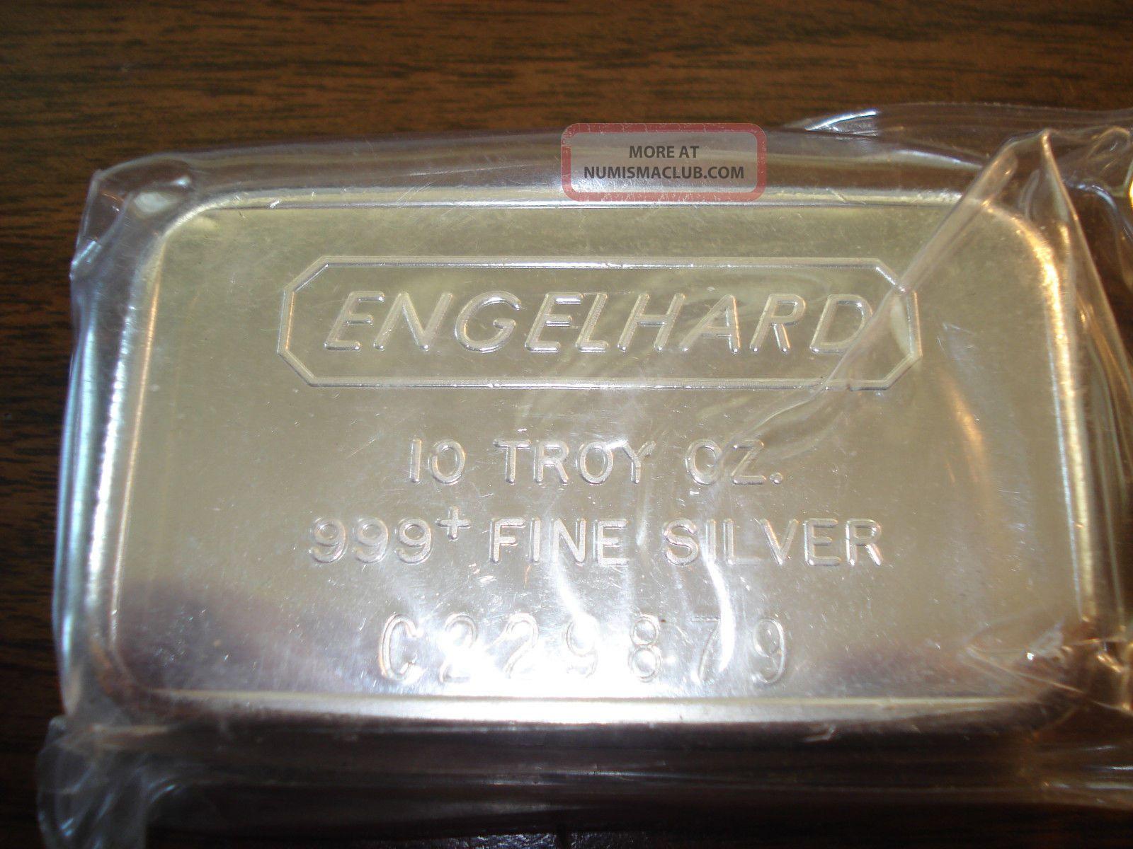 10 Oz Engelhard Silver Bar Old Style Serial No C 229879