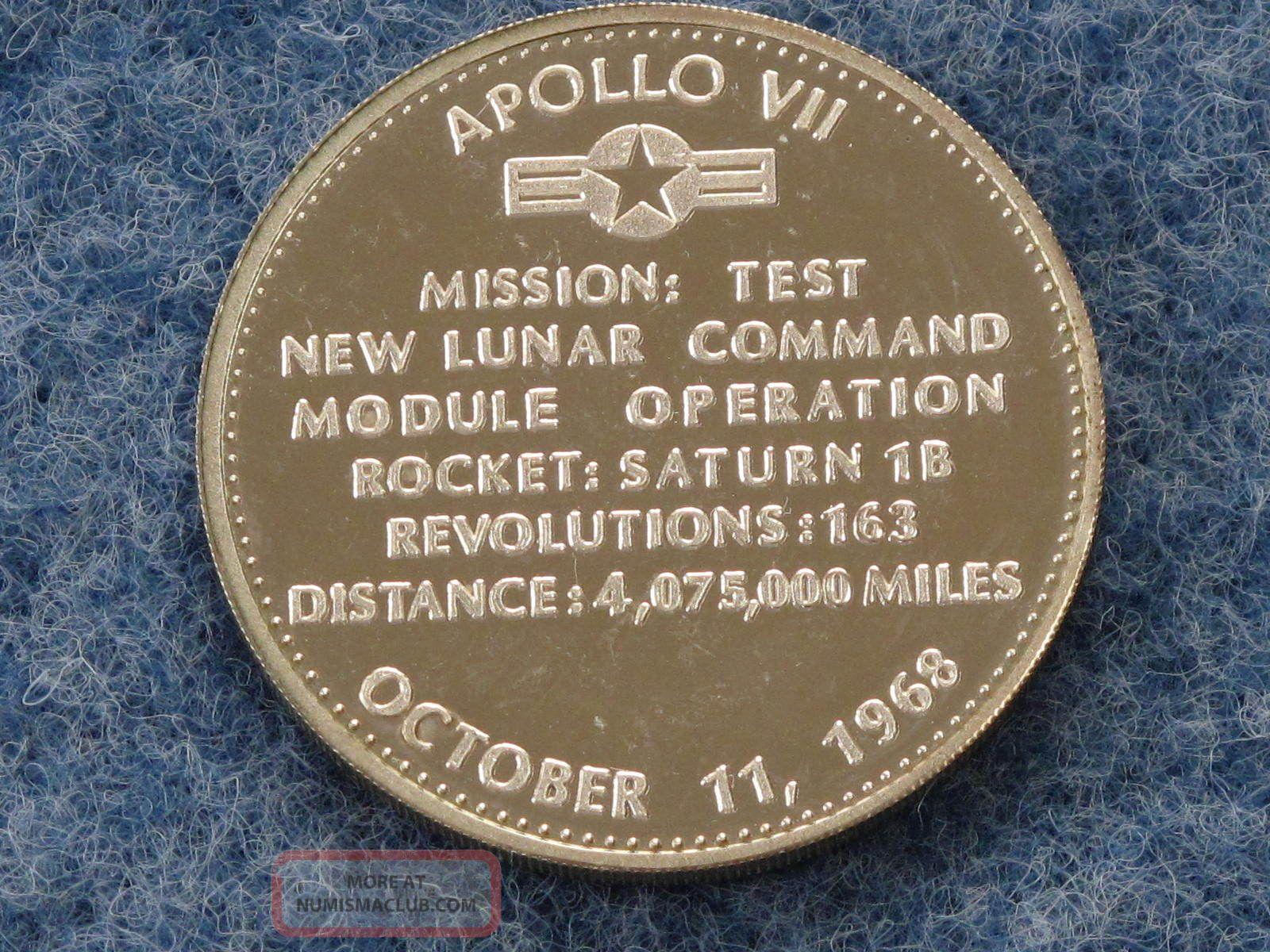 Danbury First Apollo Vii Flight 1968 Sterling Silver Art