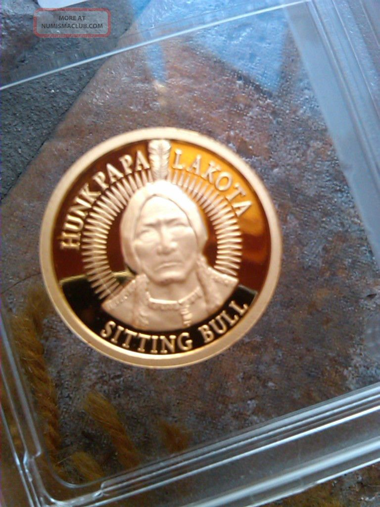 2009 Lakota Aocs 1 2 Oz 9999 Gold Proof Coin Hunkpapa
