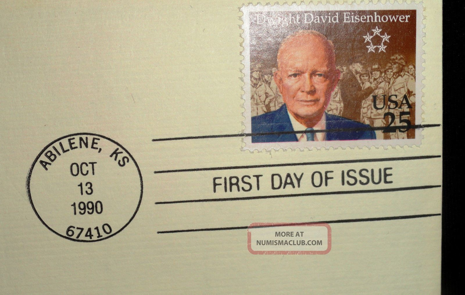 President Eisenhower 22kt Gold Commerorative Stamp 1990