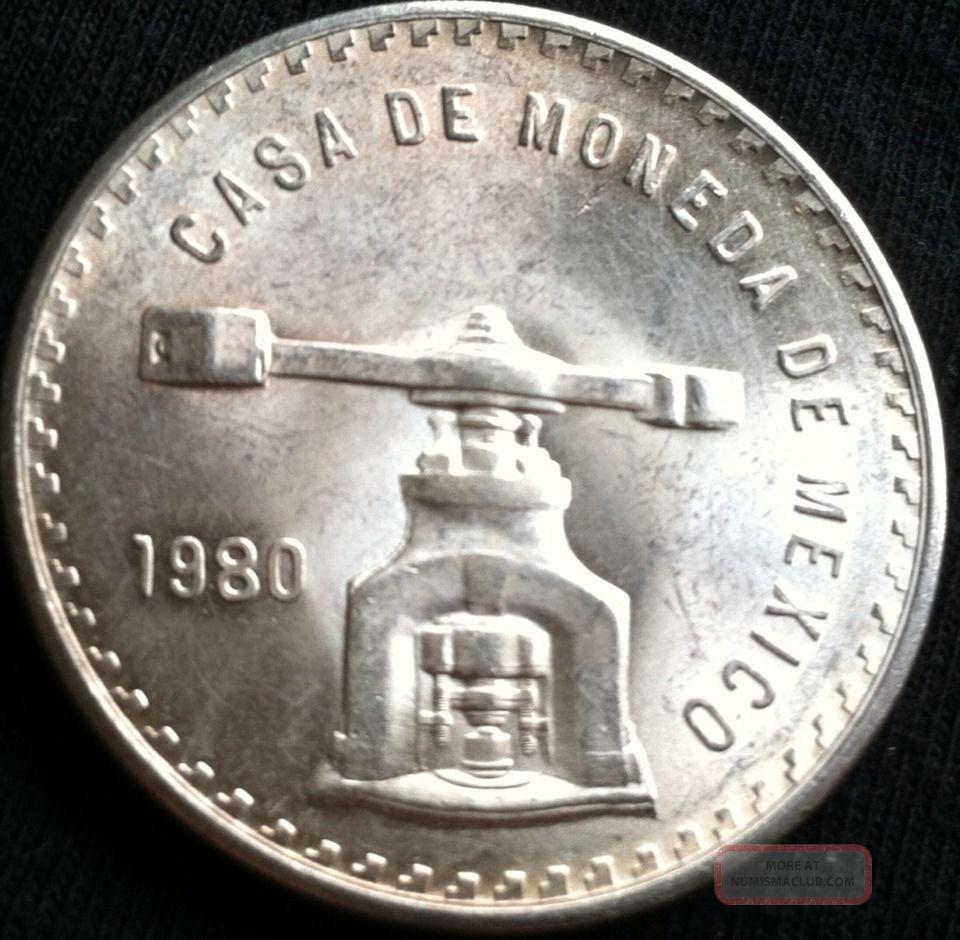 1 Oz 999 Fine Silver Casa De Moneda De Mexico 1980