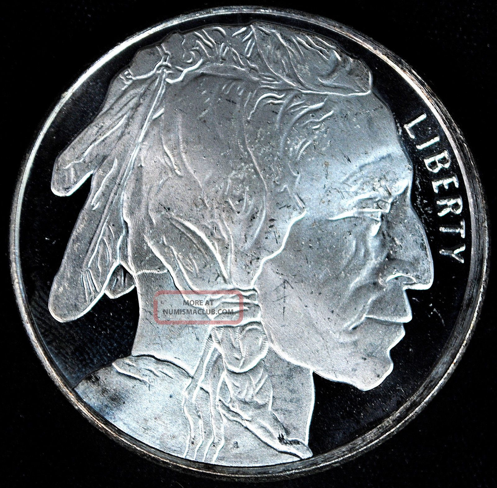 Liberty One Troy Ounce 999 Fine Silver Buffalo Indian