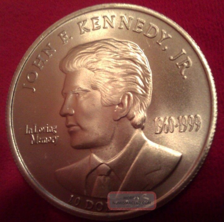 10 Silver Commemorative Proof Coin Of Jfk Jr Republic