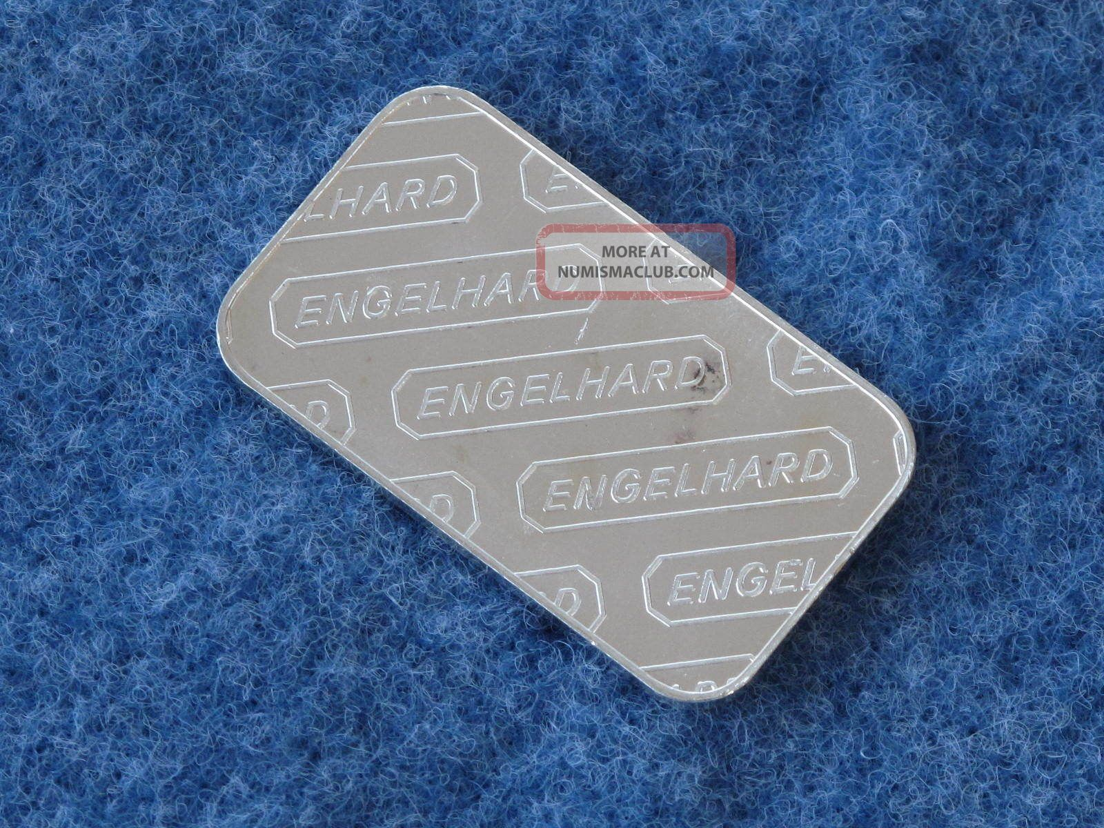Engelhard Rectangle Silver Bar 1 Troy Ounce 999 Fine