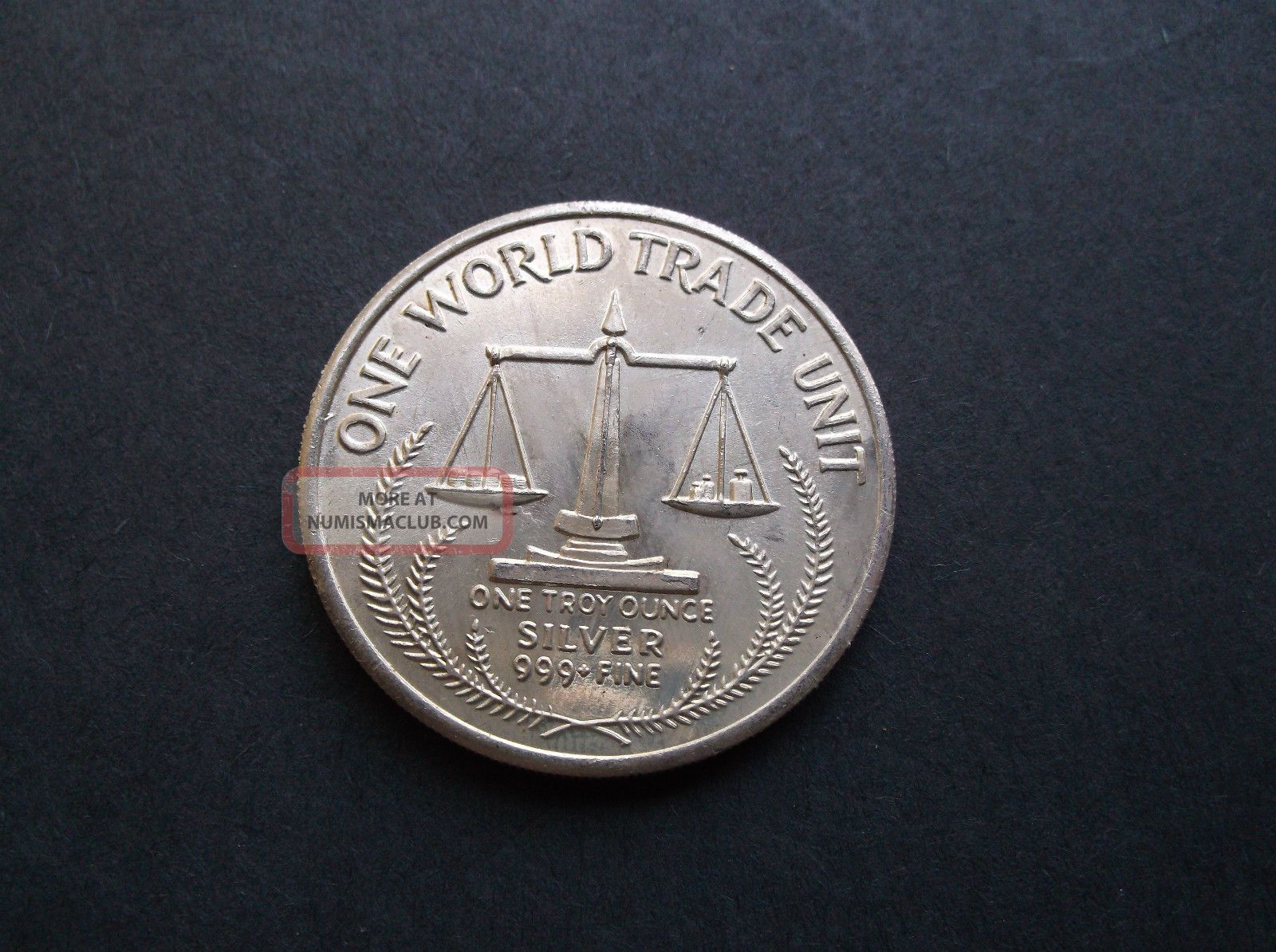 1984 One World Trade Unit 1 Troy Ounce 999 Fine Silver Tx
