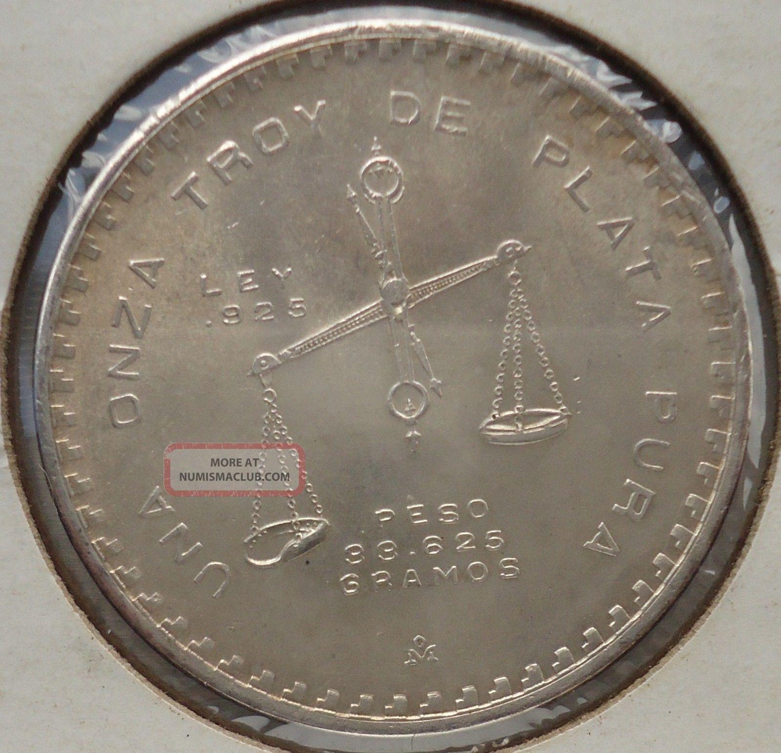 1980 Mexico Quot Onza Quot Troy Casa De Moneda 31 10 Grams