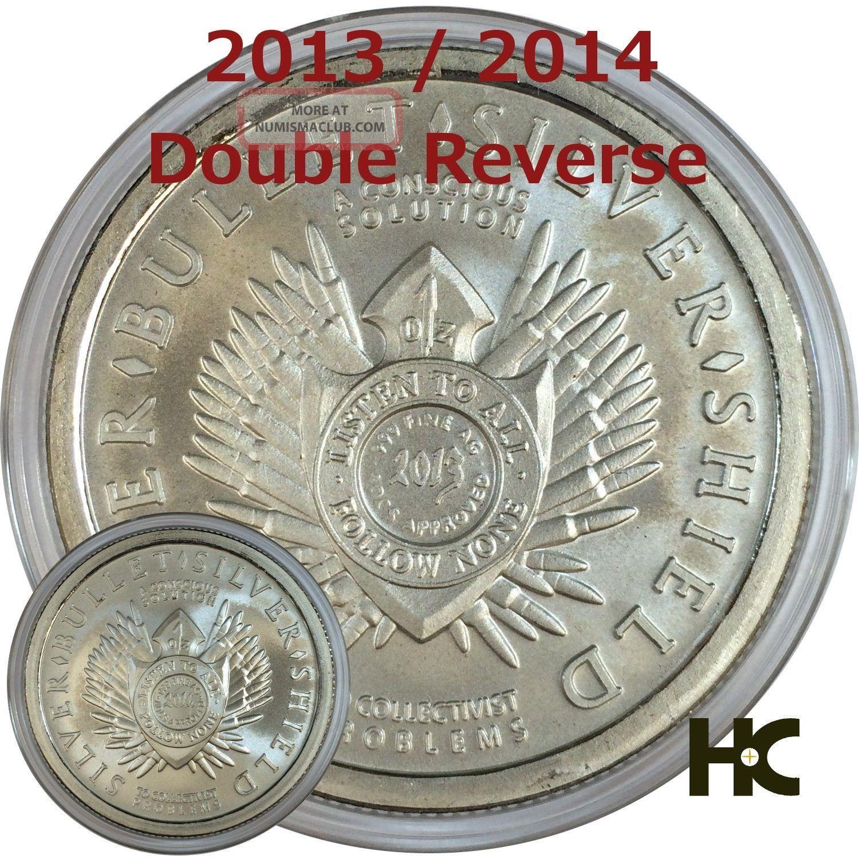 1 Oz 2013 2014 Double Reverse Sbss Silver Bullet Silver