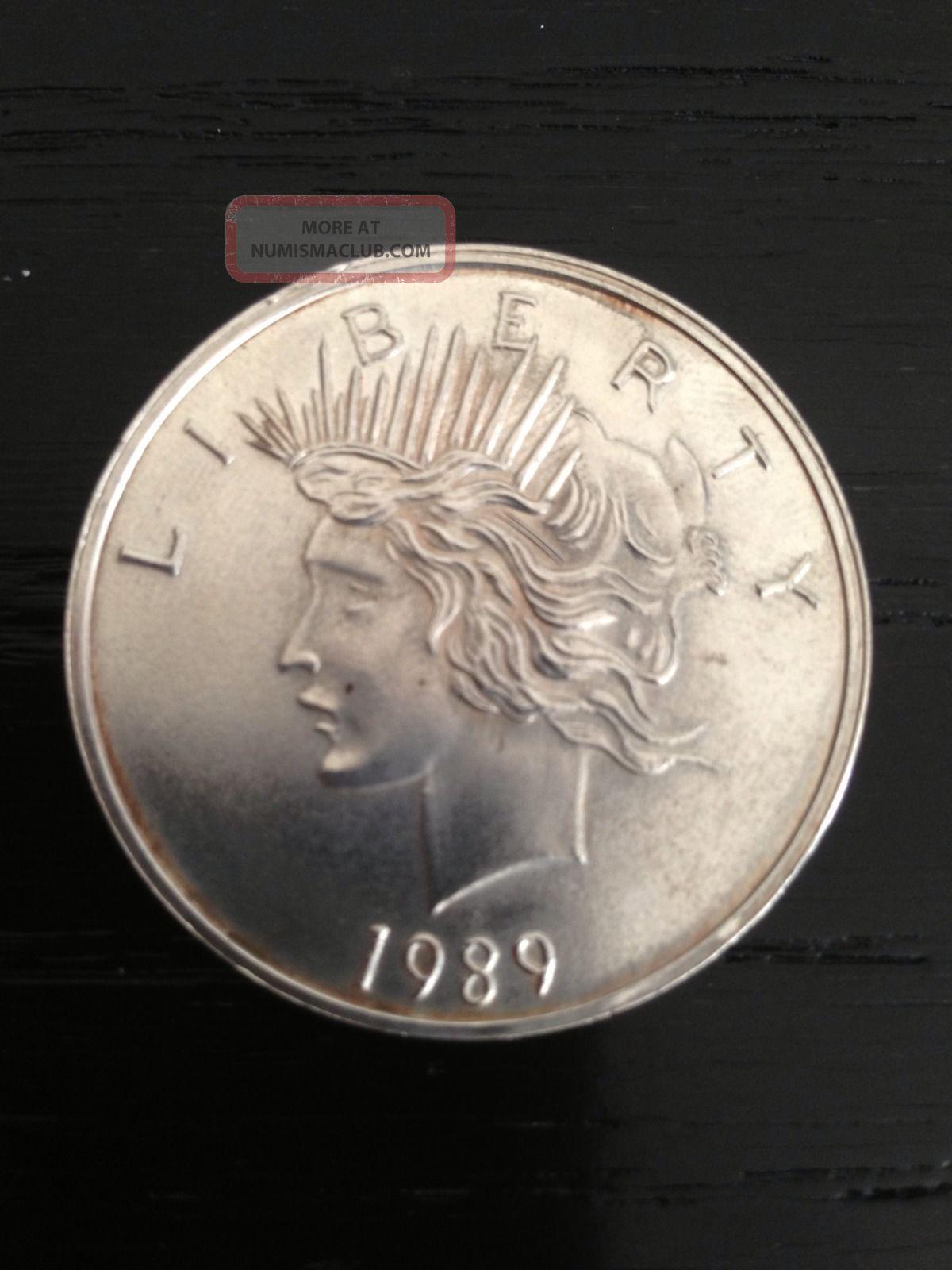 1989 Us Silver Dollar Coin 999 Fine Silver One Troy Oz