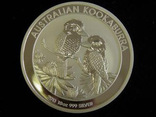 2013 10 Oz Silver Kookaburra Australian Perth.  999 Pure Silver (s/h) photo