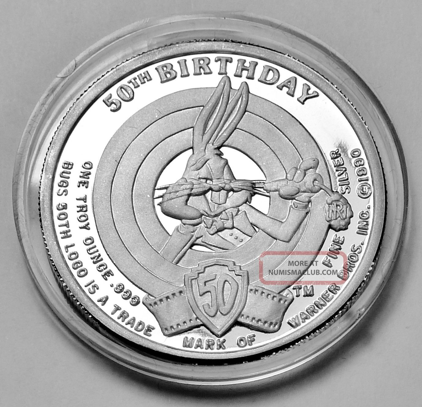 Looney Tunes Porky Pig 50th Happy Birthday Bugs Bunny 1 Oz