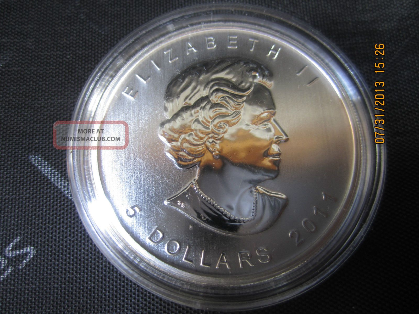 2011 Silver Maple Leaf 1 Oz Quot Timber Wolf Quot Silver Coin