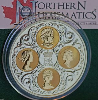 2004 Canadian $300 Gold Commemorative - Quadruple Cameo - All 4 Queen Obverses photo