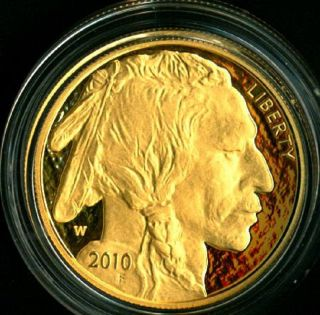 2010 American Buffalo Liberty One Ounce Gold Proof Coin $50.  9999 Fine photo