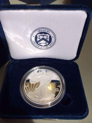 2011 - W 1 Oz Proof Silver American Eagle (w/box &) photo