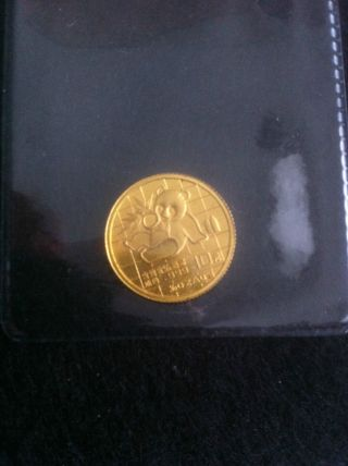 - China - 1/10 Oz.  999 Pure Gold Panda - 1989 Key Date - Just Over 3 Grams photo