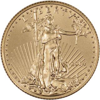 2014 American Gold Eagle (1/4 Oz) $10 photo