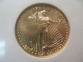 Bu Perfect Gem 2005 Gold Us Eagle G$25.  Ngc Ms70.  1/2 Troy Oz.  Fine Gold. photo