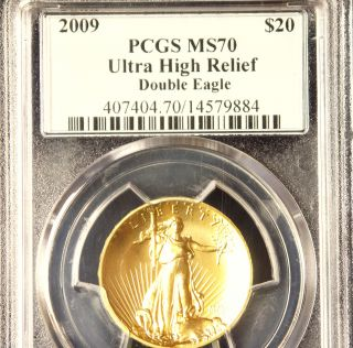 2009 Perfect Pq Pcgs Ms70 U.  S.  Double Eagle