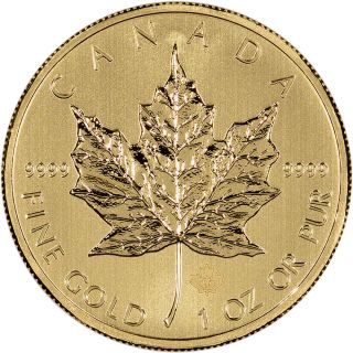 2014 Canadian Gold (1 Oz) Maple Leaf $50 - Bu photo