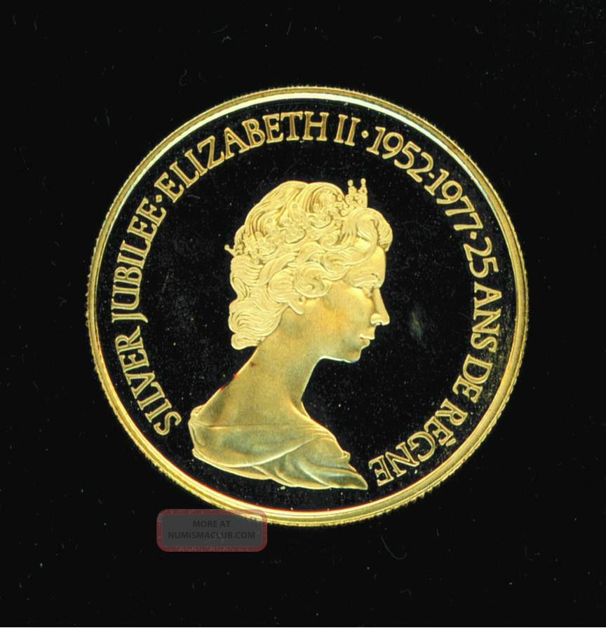 Gold Queen Elizabeth 1/2 Oz Silver Jubilee $100 Coin Commemorative 1952 1977 Gold photo