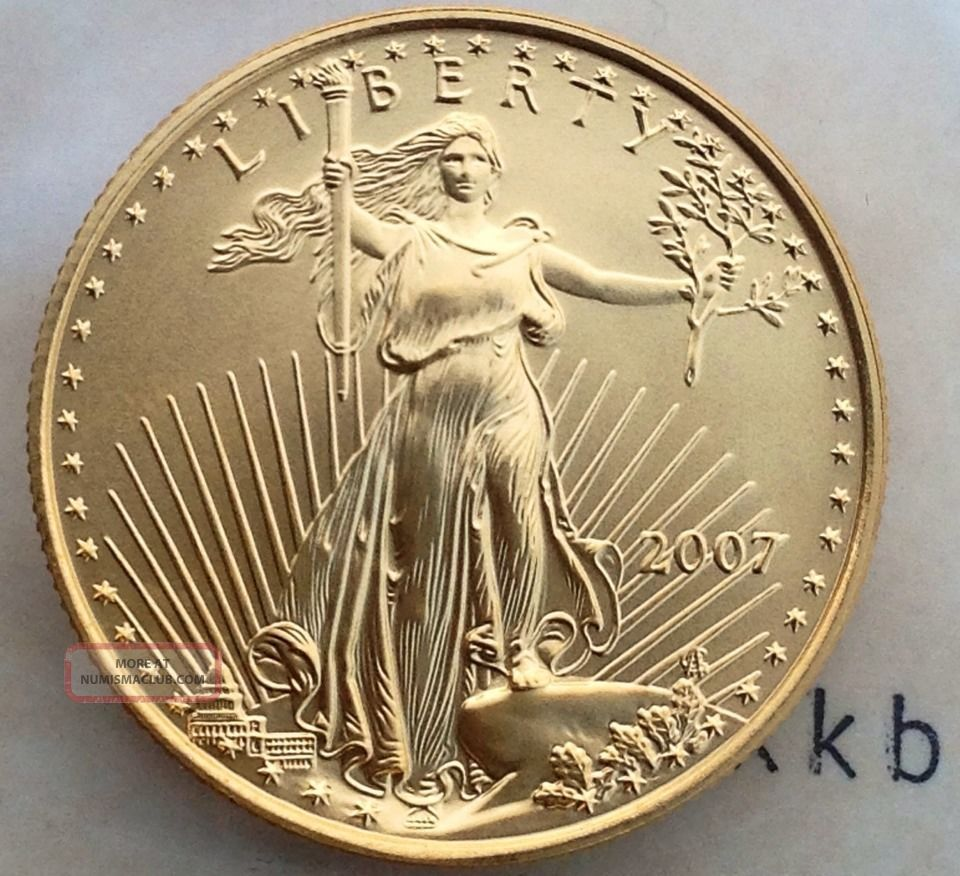 2007 $25 1/2 Oz Gold American Eagle Better Date Gold photo
