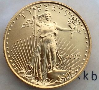 2007 $25 1/2 Oz Gold American Eagle Better Date photo