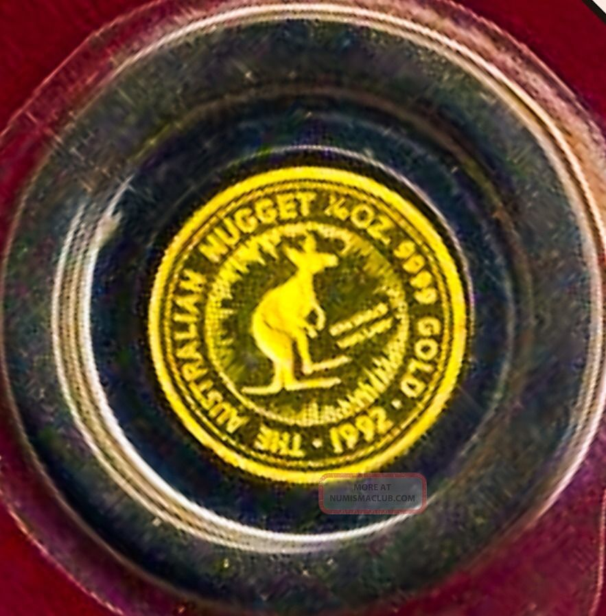 1992 Australia Kangaroo 1/10th Oz Gold Proof 9999 Coin Nugget 1359 Mintage Gold photo