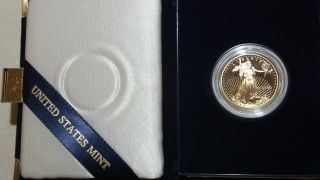 2000 American Eagle Gold Proof Coin One - Half Ounce W/ Case And photo