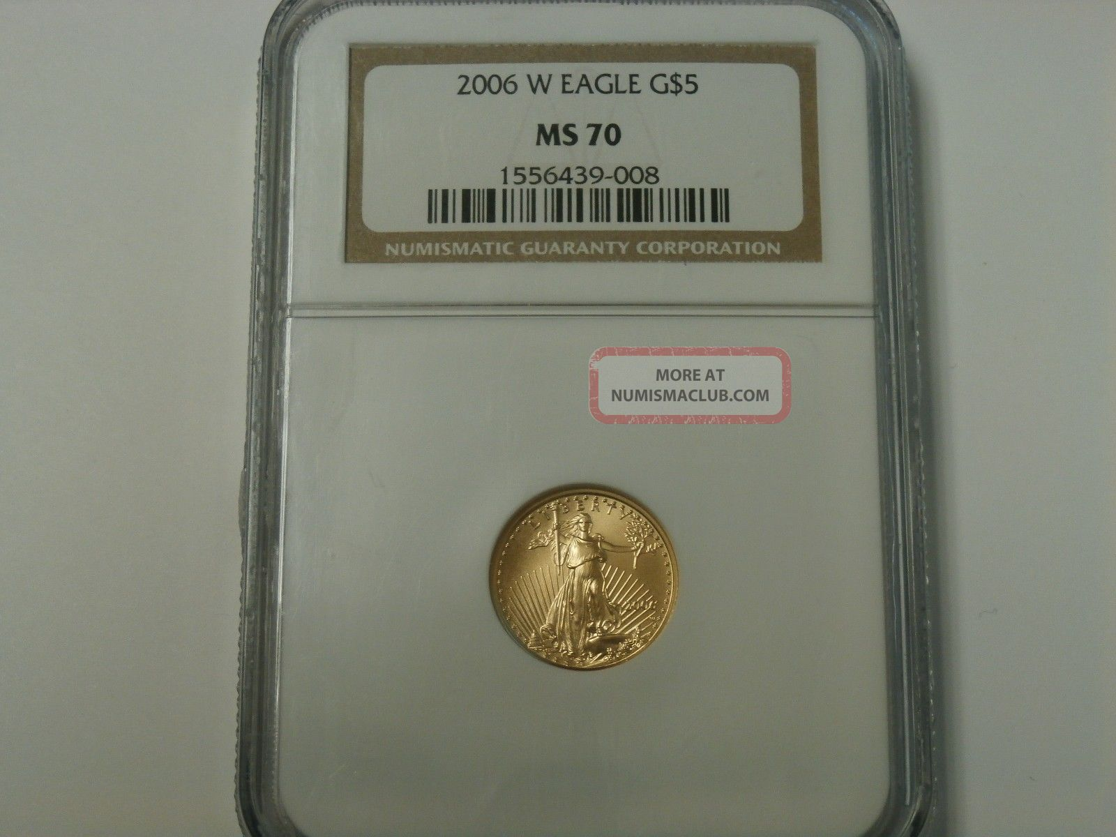 2006 Gold Eagle $5 Ngc Ms70 Graded Perfect Gold photo