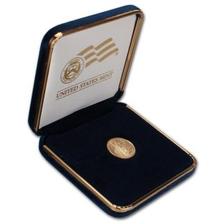 2014 American Gold Eagle (1/10 Oz) $5 Coin In U.  S.  Gift Box photo