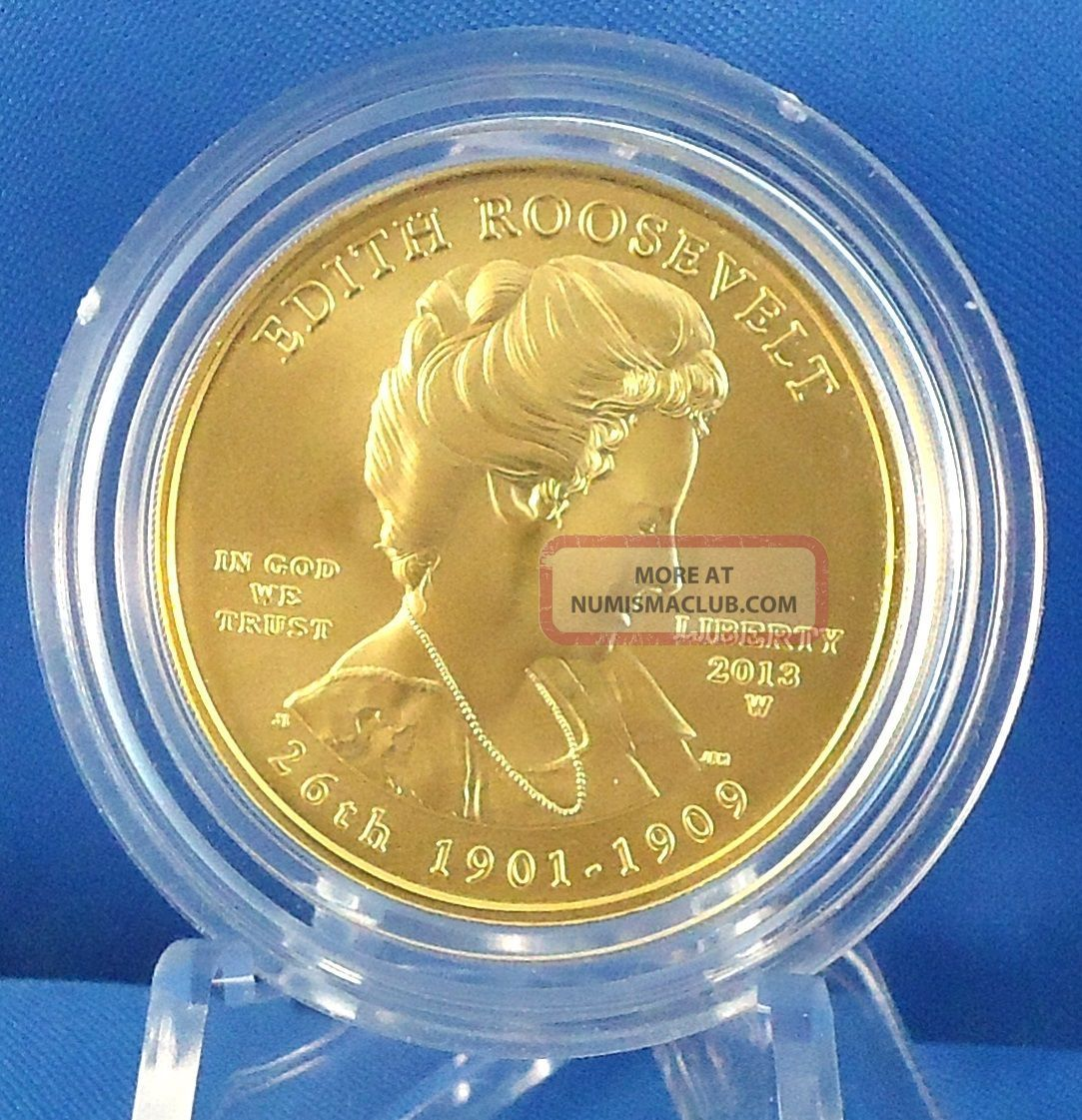 2013 Edith Roosevelt First Spouse Series 1/2 Oz.  Gold Specimen Uncirculated Coin Gold photo