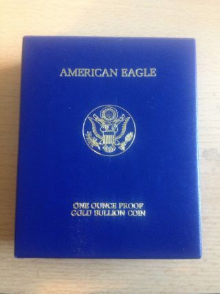 1986 W American Eagle Proof $50 1 Oz Gold Coin W/coa photo