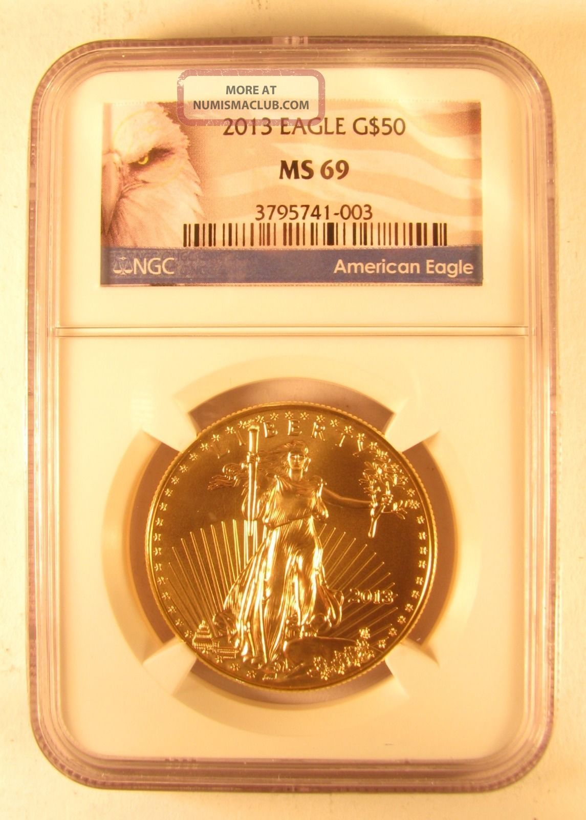 2013 1 Oz Gold American Eagle Ngc Ms 69 Gold photo
