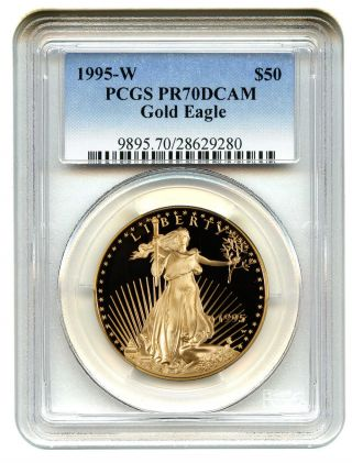 1995 - W Gold Eagle $50 Pcgs Proof 70 Dcam American Gold Eagle Age photo
