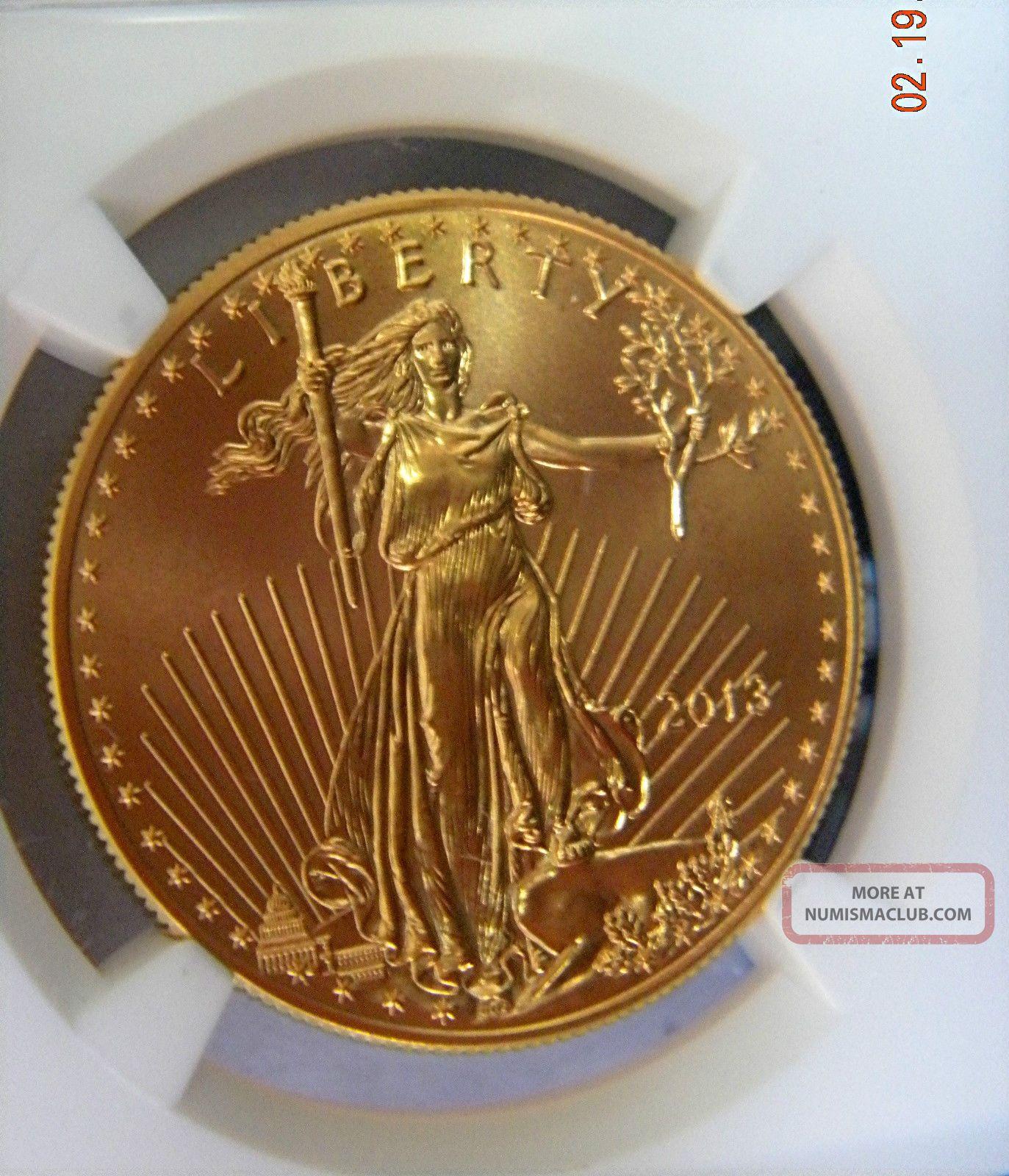 2013 $50 Gold Eagle Ngc Ms 69 Gem,  Low Pop Gold photo