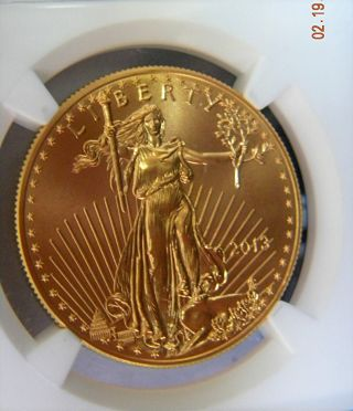 2013 $50 Gold Eagle Ngc Ms 69 Gem,  Low Pop photo