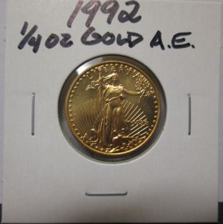 1992 1/4 Oz $10 Gold American Eagle Unc Coin photo